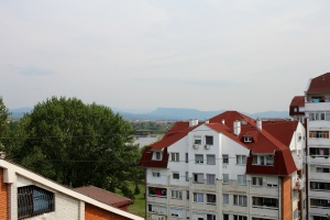 View of Niš from Kelsey and Micha's apartment.